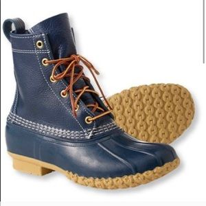 LL Bean Navy Blue Limited Edition Winter Boots